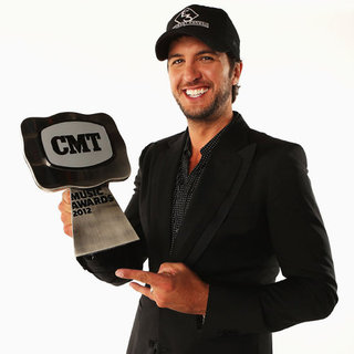 Luke Bryan Underwear Toss at CMT Awards