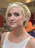 Ashlee Simpson wore a headband with flowers she said she found at a flea market.