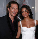 Matthew McConaughey and Camila Alves made a gorgeous couple at the launch of Dolce & Gabbana's new fragrance at NYC's Gramercy Park Hotel in December 2007.