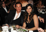 Matthew McConaughey and Camila Alves cozied up while watching the January 2010 MusiCares Person of the Year Tribute in LA.