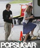 Kate Winslet hung out with her boyfriend Ned Rocknroll on the set of Labor Day.