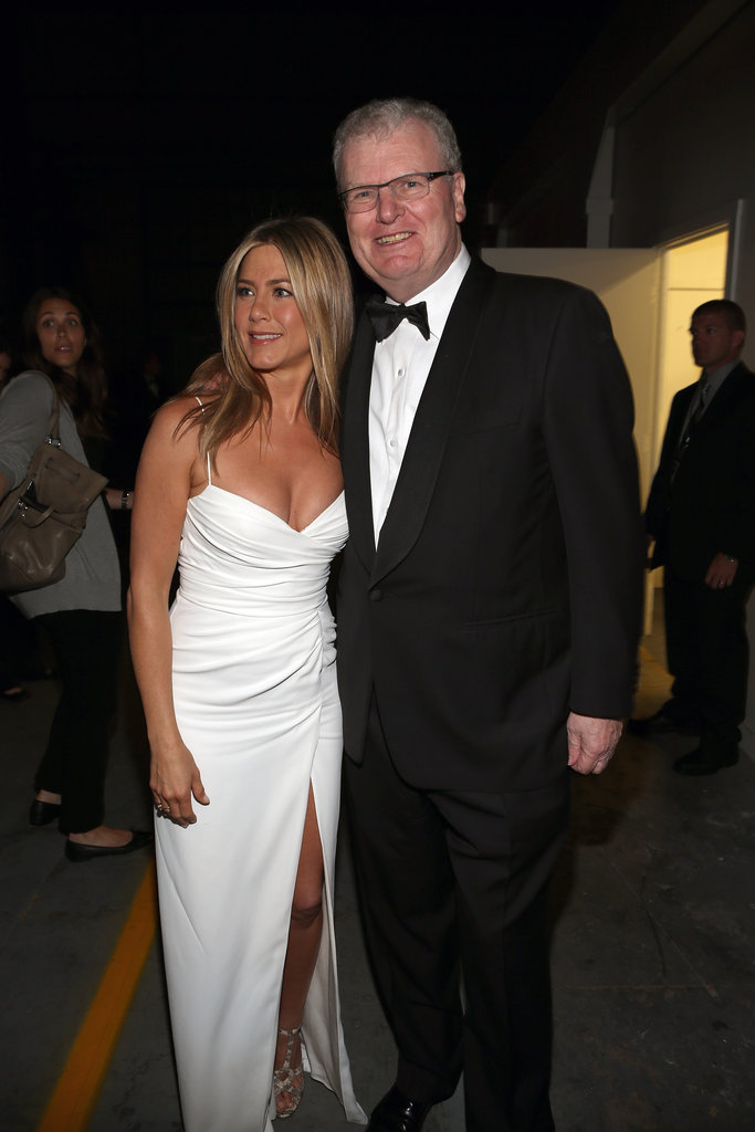Jennifer Aniston got together with Howard Stringer at the AFI Life Achievement Award dinner honoring Shirley MacLaine in LA.