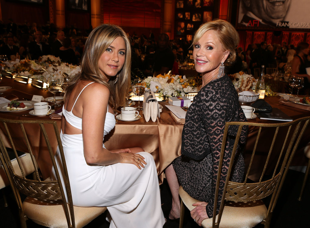 Jennifer Aniston sat with Melanie Griffith at an AFI gala.