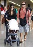 Matthew McConaughey and Camila Alves took Levi to Brazil in November 2008.