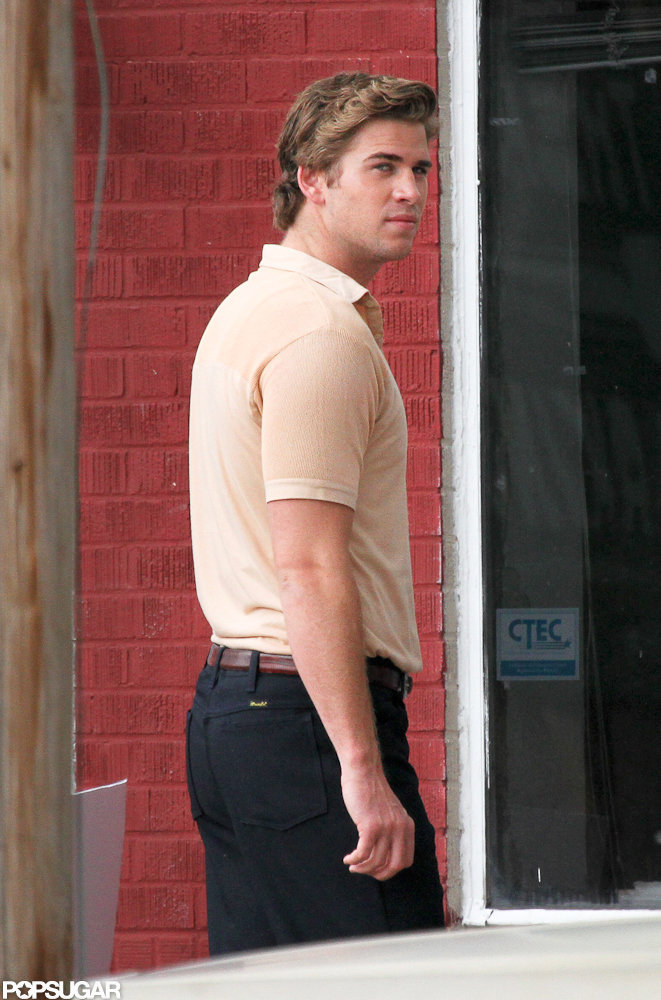 Liam Hemsworth spent the day filming for his next film in New Orleans.