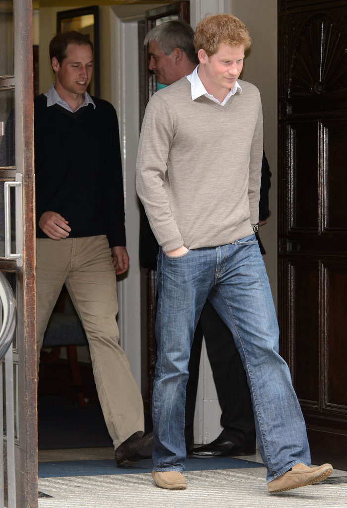 Prince William and Prince Harry Visit Their Grandfather in the Hospital