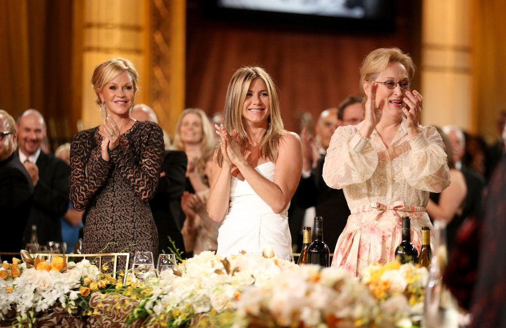 Melanie Griffith, Jennifer Aniston, and Meryl Streep applauded at an AFI gala.