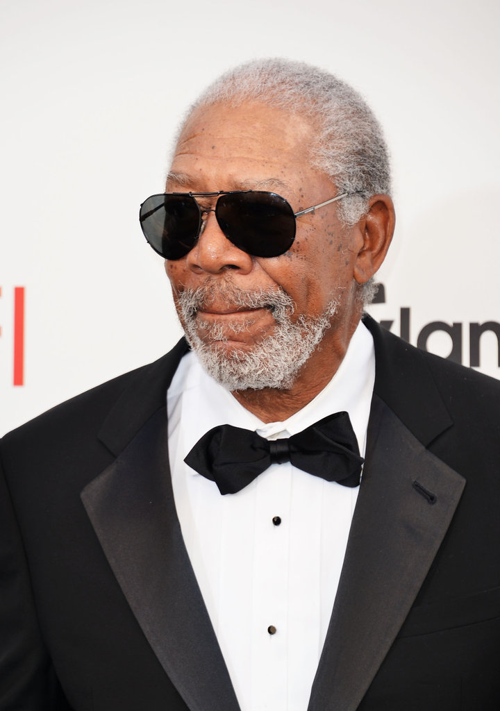 Morgan Freeman attended the AFI Life Achievement Award dinner honouring Shirley MacLaine in LA.