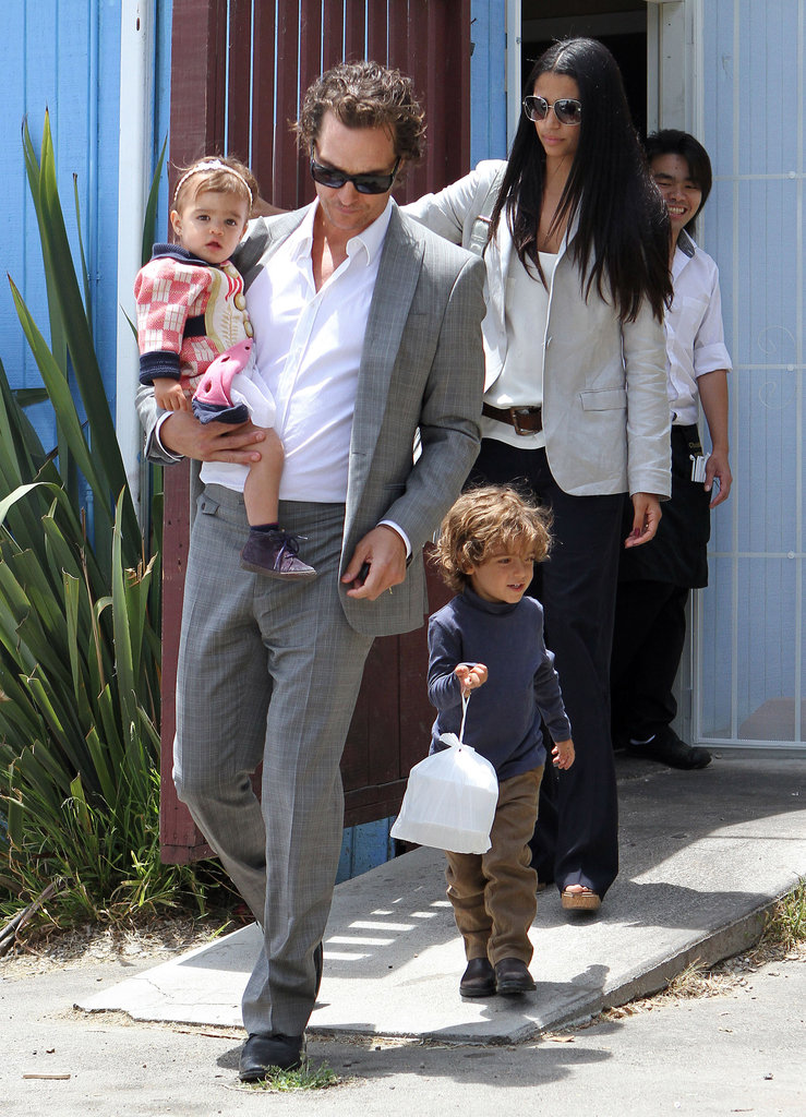 Camila Alves, Matthew McConaughey, and their kids Levi and Vida stepped out in Santa Monica in June 2011.