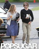 Ned Rocknroll came to the set of Labor Day to visit Kate Winslet in Boston.