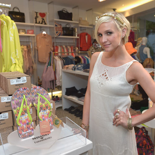 Video: Ashlee Simpson Steps Out For The Missoni For Havaianas Launch And Talks Style