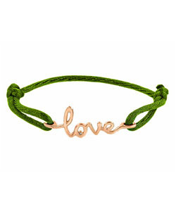 Avanessi One Love Green Cord Bracelet ($275)