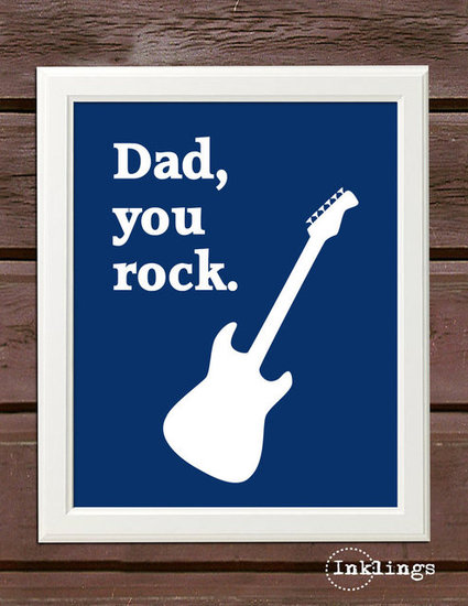 Dad Rocks Printable Poster