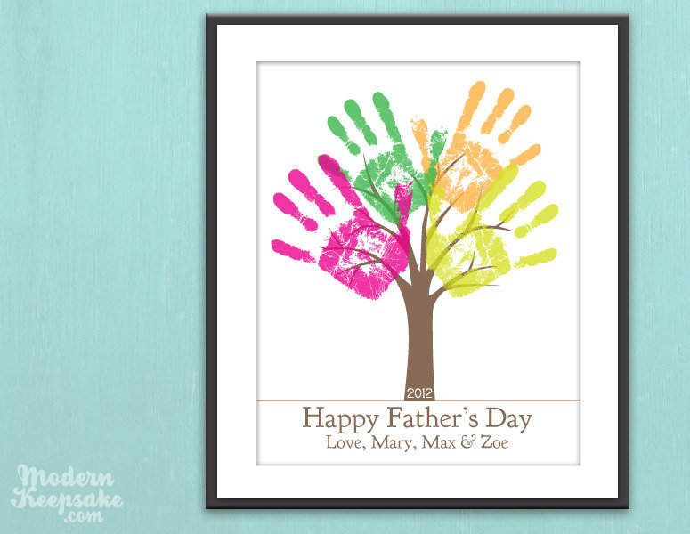 Personalized DIY Child's Handprint Tree