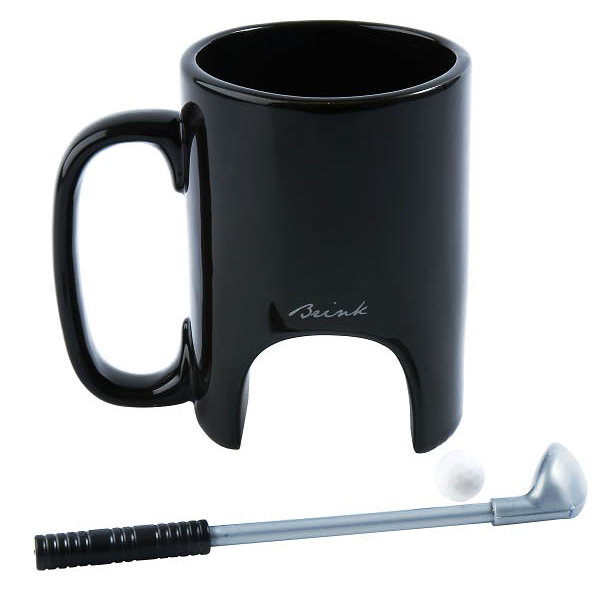If you're looking for a gift for an avid golfer, we loved this Golf Mug Ceramic Black with Club & Stirrer ($30) for work and fun at the office.