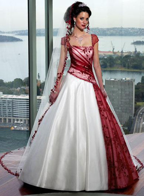 Amazing red wedding dresses with sleeves