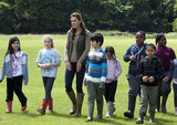 Kate Middleton spent time with children from Expanding Horizons' primary school outdoor camp.