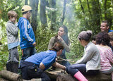 Kate Middleton hung out by a campfire with children from Expanding Horizons' primary school outdoor camp.