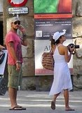 Eva Longoria and Eduardo Cruz Break From Sightseeing For PDA