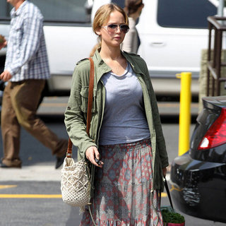 Jennifer Lawrence Printed Maxi Skirt
