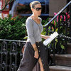 Sarah Jessica Parker Gray Button-Front Skirt