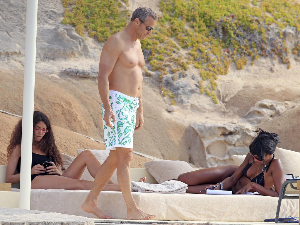 Naomi Campbell was on the beach in her bikini in Ibiza.