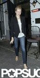 Naomi Watts sported a black blazer in London.