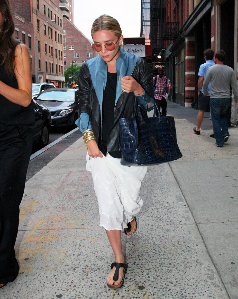 Ashley Olsen pictured on an NYC walk.