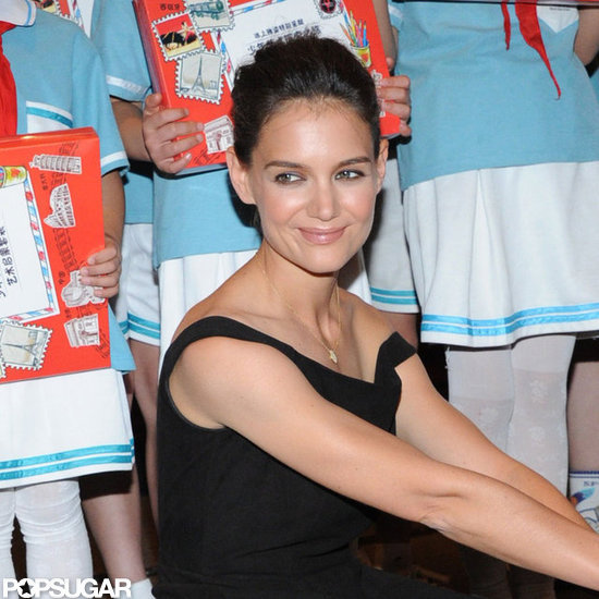 Katie Holmes smiled at an ice skating event in Taiwan.