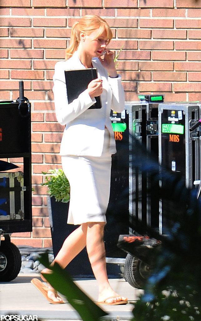 Gwyneth Paltrow was in character as Pepper Potts.
