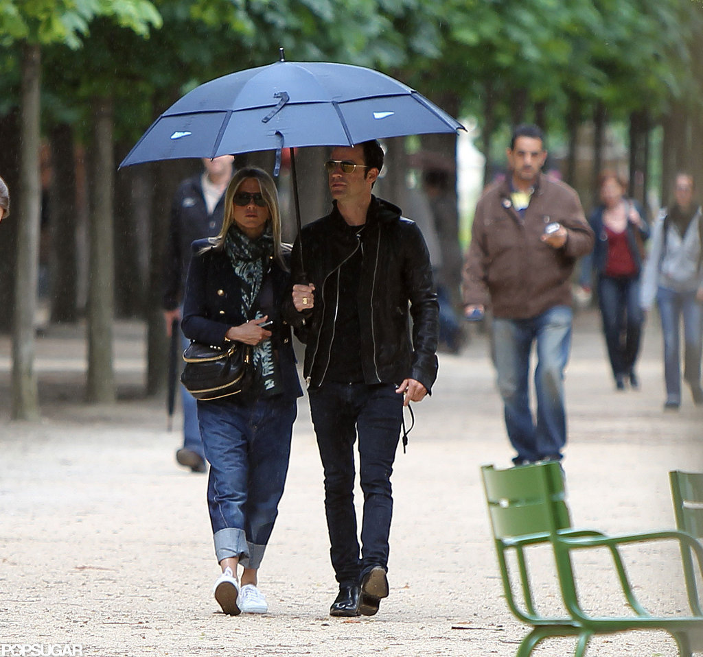 Jennifer Aniston and Justin Theroux toured Paris together.