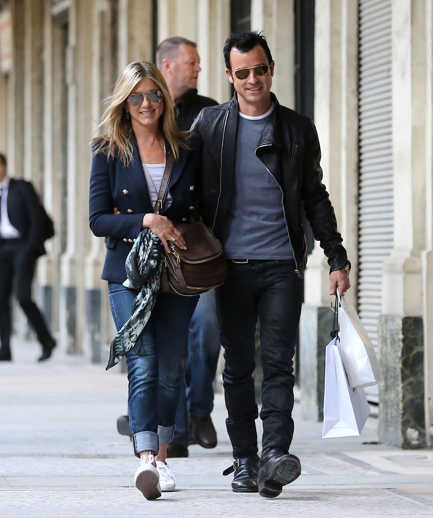 Jennifer Aniston and Justin Theroux toured Paris in June 2012.
