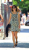 Alexa Chung took her easy Summer dressing for a stroll — a reminder that a beautiful print on a little dress will do wonders for your seasonal wardrobe.