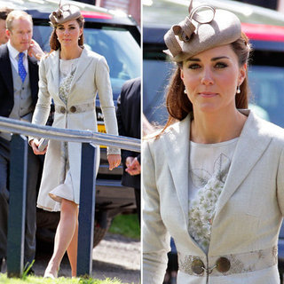 Kate Middleton Gray Wedding Outfit
