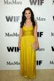 Rachael Leigh Cook lit up the carpet in bright yellow.