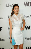 Nina Dobrev looked lovely in all white.