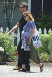 Drew Barrymore took a stroll her honeymoon in Montecito with new husband Will Kopelman.