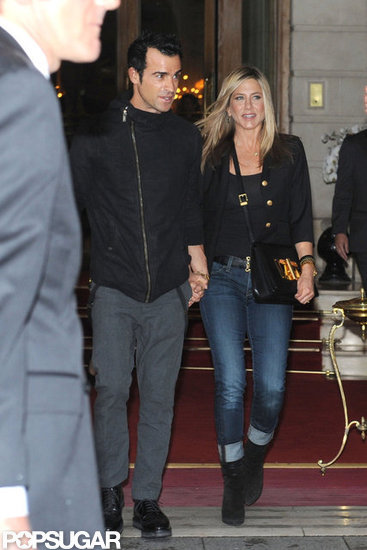 Jen and Justin Are All Smiles in the City of Lights