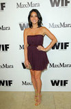 Olivia Munn rocked a short purple dress to the Max Mara party in Hollywood.
