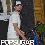 Leonardo DiCaprio hopped on his bike in NYC.