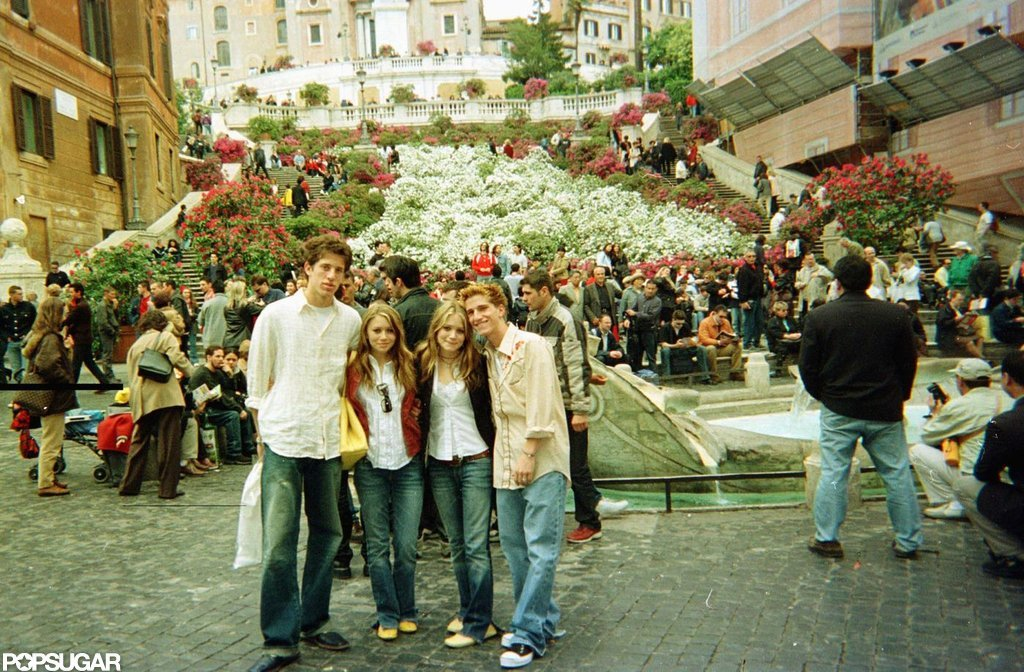 Mary-Kate and Ashley Olsen went sightseeing with their then-boyfriends in Italy during the filming of When in Rome in the Summer of 2002.