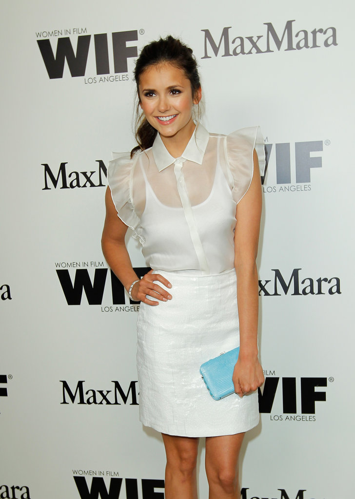 Nina Dobrev was all smiles at the event.