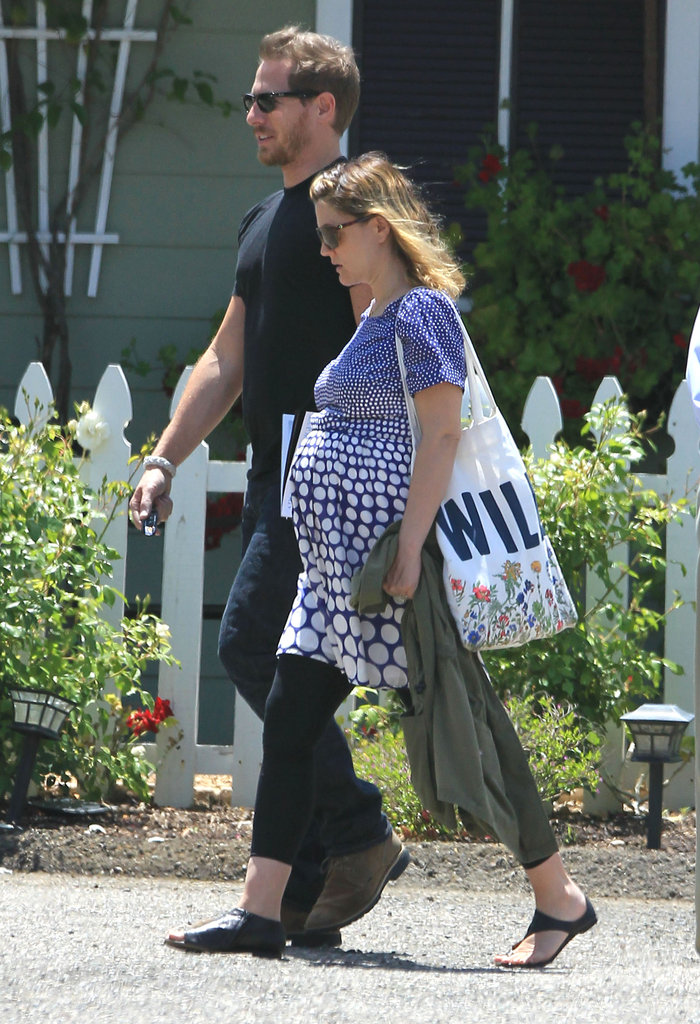 Drew Barrymore took a walk on her honeymoon in Montecito with new husband Will Kopelman.