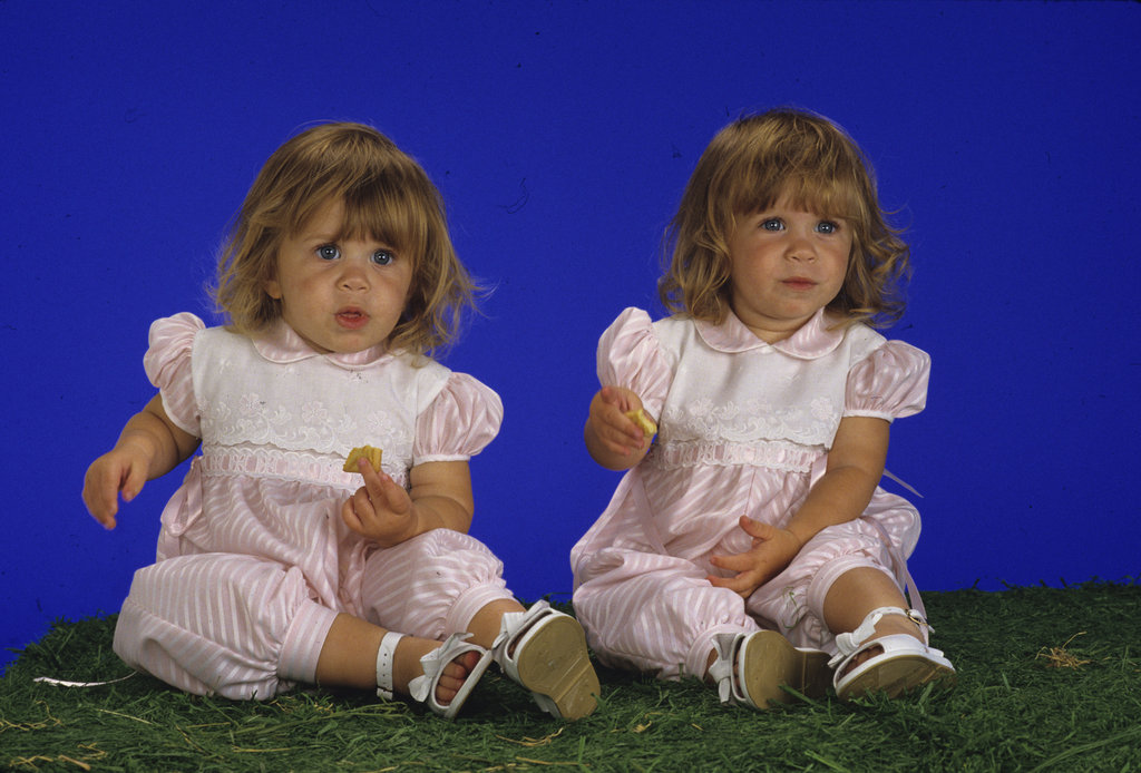 Ashley Olsen and Mary-Kate Olsen were photographed for Full House in April 1988.
