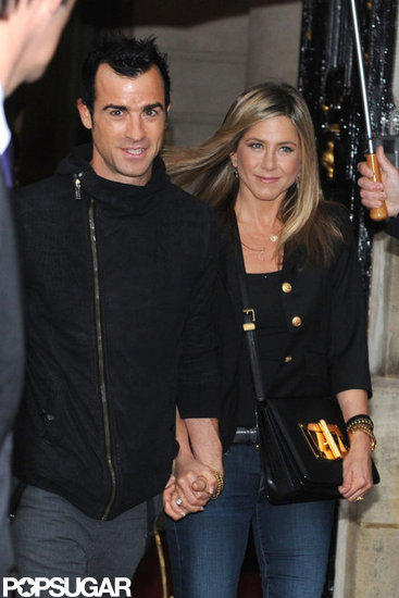 Jennifer Aniston and Justin Theroux stepped out in Paris for a dinner date.