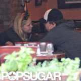 Leonardo DiCaprio and Erin Heatherton got close over lunch at NYC restaurant Candela Candela.