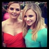 Chloe Moretz posed with Jennifer Morrison at an event. Source: Instagram user cmoretz