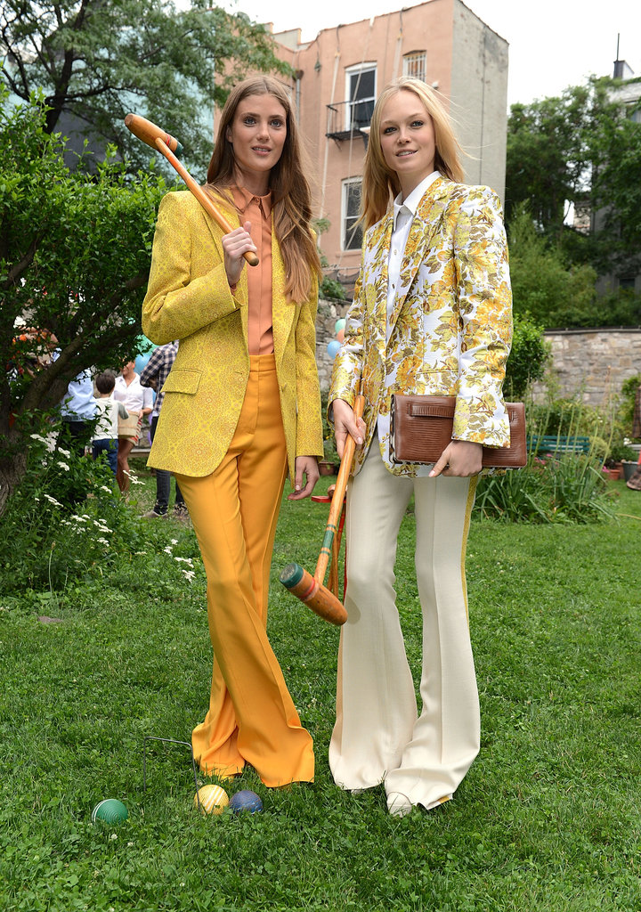 These fresh-faced beauties showed off their Resort looks while playing a round of croquet.