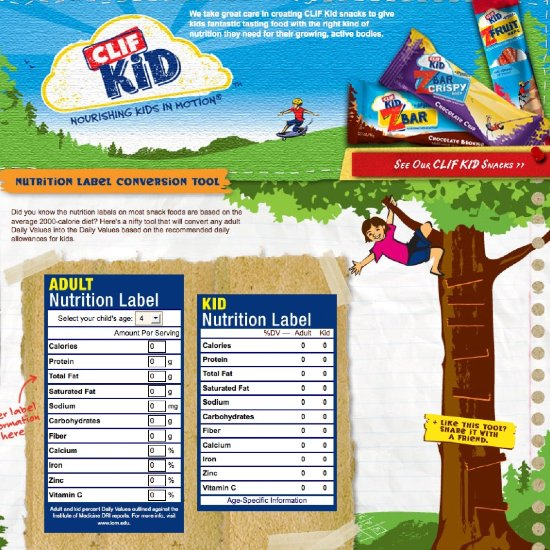 Make Sure Your Kids' Nutrition Needs Are Being Met With Clif's Handy New Tool