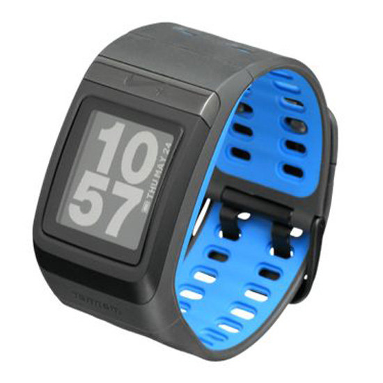 The amazing technology in the Nike+ Sportwatch GPS ($149) pinpoints your location to accurately record your time, pace, and distance. It also shows your mapped route with pace data and changes in elevation on Nikeplus.com.